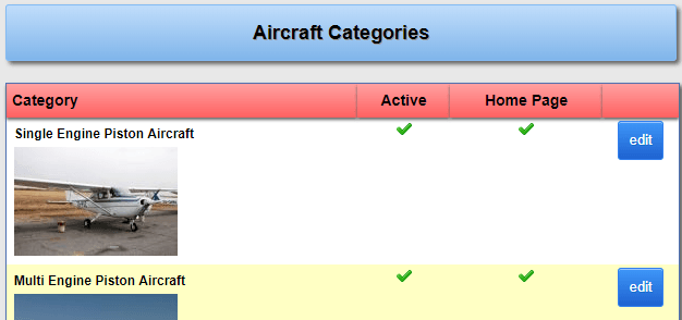 Aircraft Categories