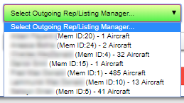 Outgoing Aircraft Reps/Listing Manager