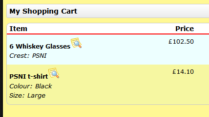 XMS-Systems E-Commerce - View Options in Cart