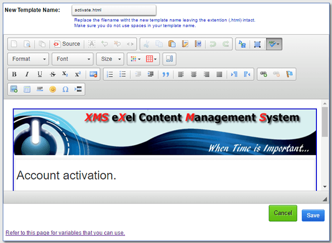 edit XMS Systems email