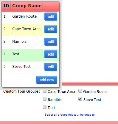 Custom Tour Groups