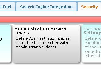 Selecting Administration Access
