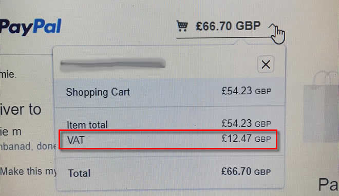 PayPal adding extra VAT to XMS Systems Cart Total