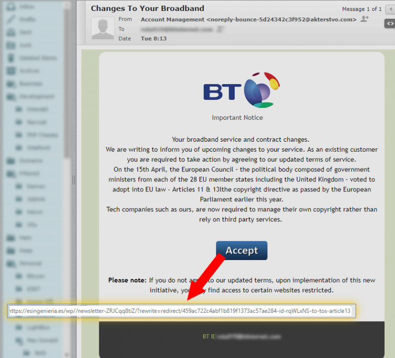 BT Scam Email