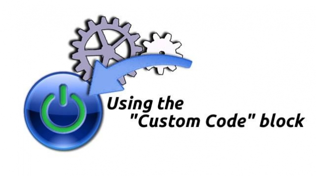 How to use the Custom Code block in XMS Systems