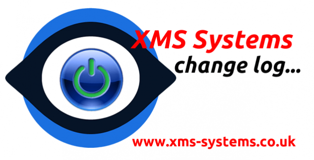 XMS Systems Change Log and development notices