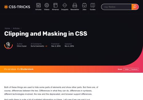 Clipping and Masking in CSS