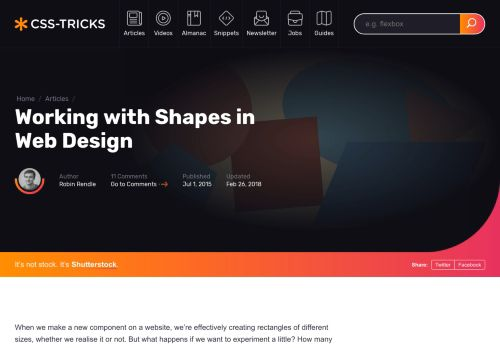 Working with Shapes in Web Design